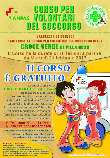 Manifesto Corso volontari sanitario - febbraio 2017